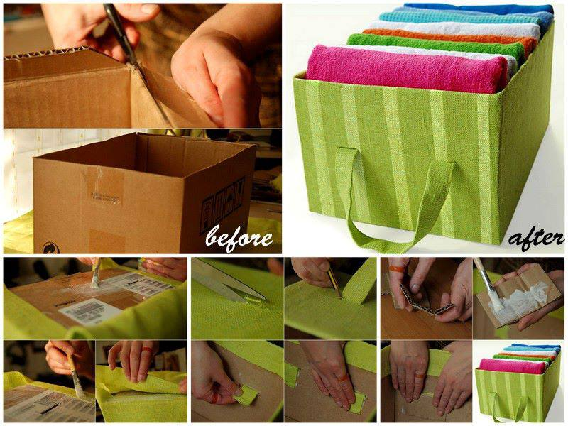 forrar caja de carton